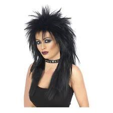 Tina Turner Halloween Costume Costumes 80s Punk Rock Star Wannabe Black Purple Costume Wig