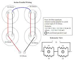 4x12 16ohm series parallel wiring schematics pinterest