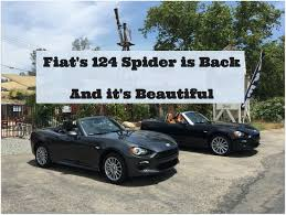first drive the fiat 124 spider is back in a big way the other pta