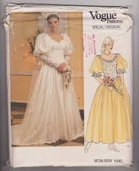 vogue wedding dress patterns custom made 1980s vintage style vogue wedding dress pattern vogue