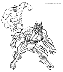 hulk color coloring pages kids cartoon characters