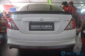 nissan almera rear bumper price nissan almera nismo performance package concept makes world debut