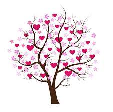 design tree with hearts vector stock vector colourbox
