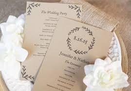 Easy Wedding Programs Wedding Diy Ideas Wedding Diys