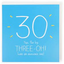 three oh 30th birthday card