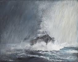 Alexander Curtains Bismarck Through Curtains Of Rain Painting By Vincent Alexander Booth