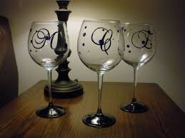 diy monogram wine glasses diy personalized wine glasses bridesmaid trade painted wine