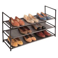 3 tier fabric shelf shoe rack at home at home