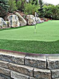 backyard putting green with artificial grass artificial turf