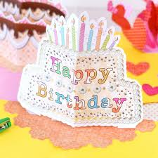 diy colorful three dimensional greeting cards birthday cards gilt