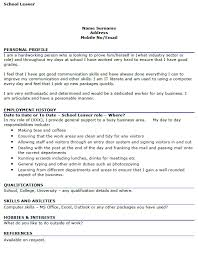 curriculum vitae template leaver jobs cv exle leavers uk google search careers pinterest