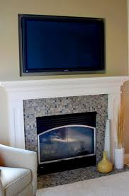 fireplace mantel height with tv above home design ideas