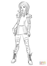 mal from descendants coloring page free printable coloring pages
