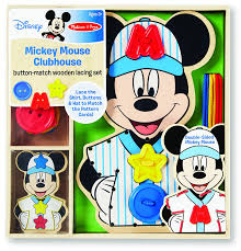 Mickey Mouse Clubhouse Bedroom Set Amazon Com Melissa U0026 Doug Disney Mickey Mouse Clubhouse Button