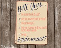 will you be my bridesmaid poem bridesmaid checklist etsy