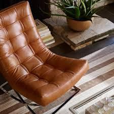 james nickel u0026 leather chair quick ship williams sonoma