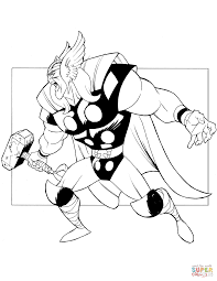 the mighty thor coloring page free printable coloring pages