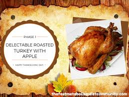 thanksgiving day turkey recipe roasted turkey with apple phase 1