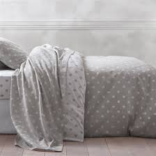 Pure Cotton Duvet Covers Clarisse Grey Polka Dot Print Pure Cotton Duvet Cover For The