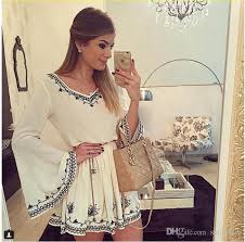 2017 plus size bell sleeve summer dresses for women party