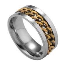 aliexpress buy vnox 2016 new wedding rings for women aliexpress buy fashion spinner black chain ring for men