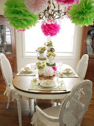 Decorate A Dining Room Colorful Spring Table Setting Hgtv