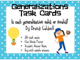 resume objectives exles generalizations in reading generalization task cards activities students and reading skills
