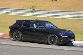 new porsche electric 2018 porsche cayenne spied could get all electric version with