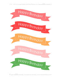 happy birthday ribbon and blue paperie free printable happy birthday cake banners