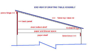 Drafting Table Hinge How To Build Your Own Drafting Table Home Repair