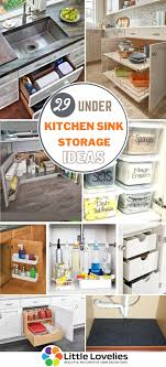 the kitchen sink cabinet organization 29 kitchen sink storage ideas to increase storage