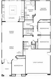 Cottage Floor Plans One Story Modern Design 4 Bedroom House Floor Plans Four Bedroom Home Plans