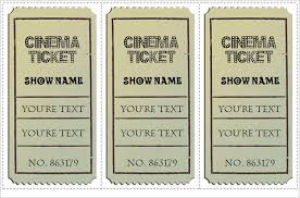 21 free movie ticket templates creative template creative