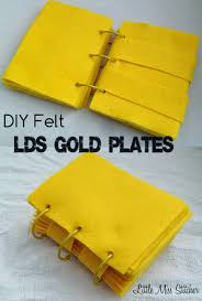little miss stitcher felt golden plates diy