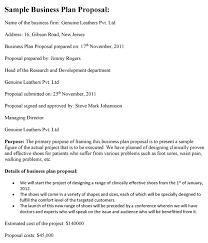 business plan proposal template business plan proposal template