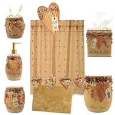 Country House Collection Curtains Country House Primitive Bath Accessories Soap Toothbrush By