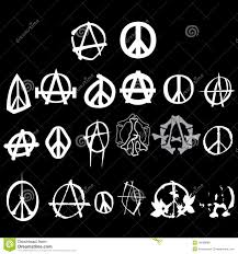 symbol anarchy peace logo isolated vector royalty free stock