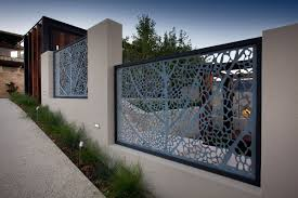 outdoor wood and stone fence designs with cedar fence designs and
