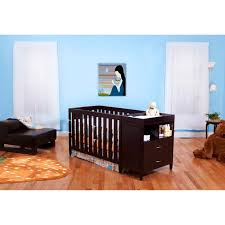 4 In 1 Baby Crib With Changing Table Bsf Baby 4 In 1 Crib Changer Combo Espresso Walmart