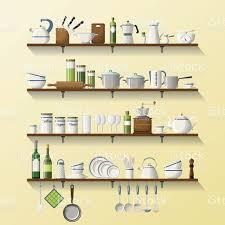 cuisine entierement equipee cuisine entièrement équipée avec plats et casseroles et étagères