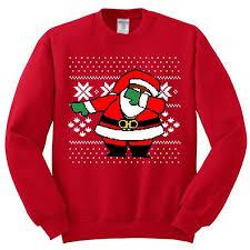 santa sweater dabbing santa claus sweater youth crewneck