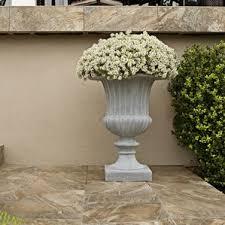 Stone Urn Planter by Resin Stone Square Planter Wayfair