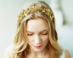 gold headpiece made to order bridal accessories handmade in by twraccessories