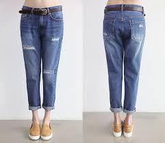 Light Colored Jeans Autumn European Leg Loose Hole Jeans Pants Tide Leisure Wear Light