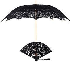 black lace fan black lace fan