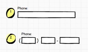 html input pattern alphanumeric multiple vs single field capture for phone number form input user
