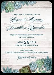 wedding invatations splendid succulents 5x7 wedding invitations shutterfly