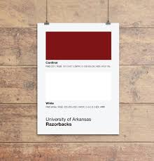 gifts for razorback fans arkansas razorbacks colors print sproutjam