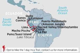 Peru On Map Ecuador Peru U0026 Bolivia Peru Tours Peregrine Adventures Us