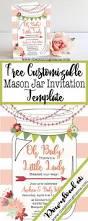 free printable mason jar invitation the pinning mama